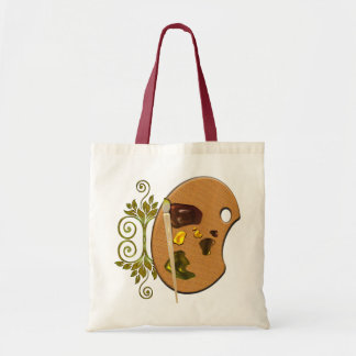 Artists Palette Budget Tote Bag