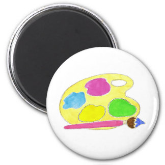 Artists Palette Girls 6 Cm Round Magnet