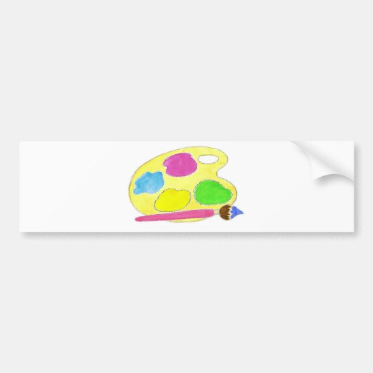Artists Palette Girls Bumper Sticker