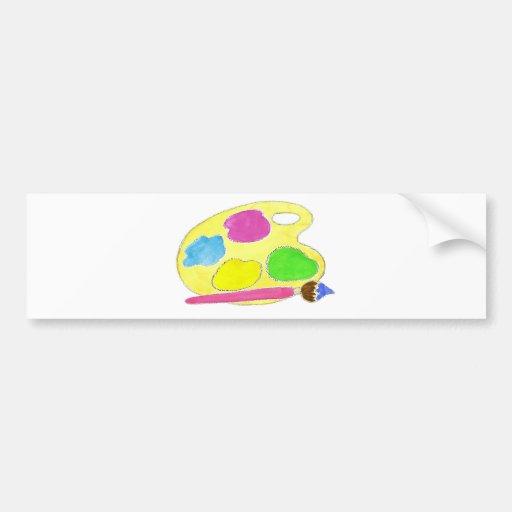 Artists Palette Girls Car Bumper Sticker