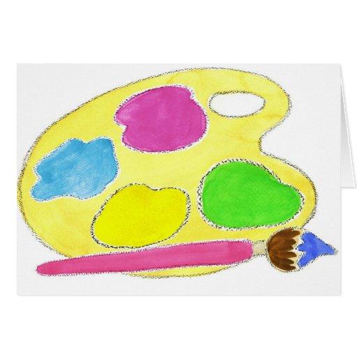 Artists Palette Girls Cards