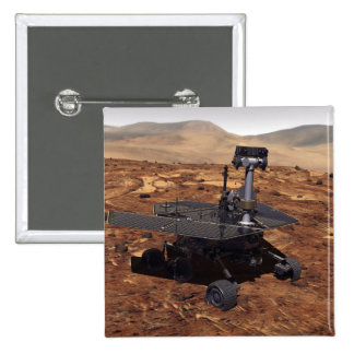 Artists rendition of Mars Rover 2 15 Cm Square Badge