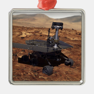 Artists rendition of Mars Rover 2 Silver-Colored Square Decoration