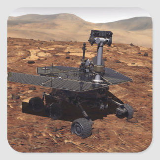 Artists rendition of Mars Rover 2 Square Stickers