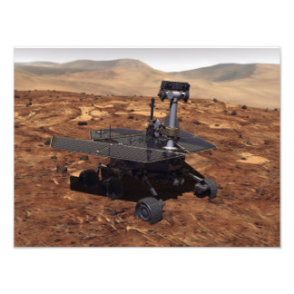 Artists rendition of Mars Rover Photo Print