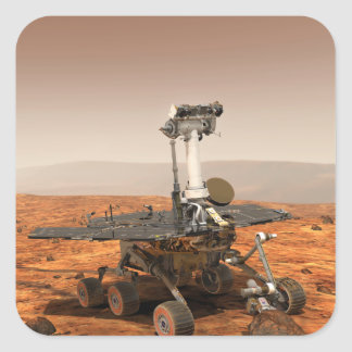 Artists rendition of Mars Rover Square Sticker