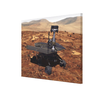 Artists rendition of Mars Rover Stretched Canvas Prints