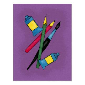 Artist's Tools Postcard