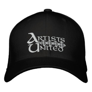 Artists United White Text Embroidered Baseball Cap