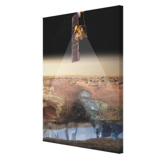 Artist's View of Odyssey Detecting Ice Canvas Print