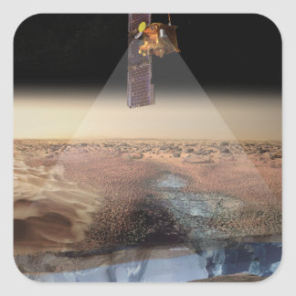Artist's View of Odyssey Detecting Ice Square Sticker