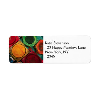 Artists Watercolor Paint Box Palette Return Address Label
