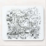 Artist's Work Bench | Gene Young Mouse Pads