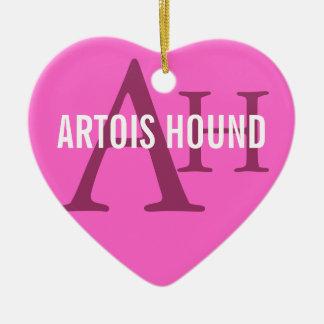 Artois Hound Monogram Ceramic Heart Decoration