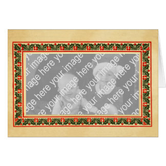 Arts and Crafts Christmas Photo Frame Greeting Card