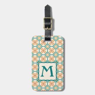Arts and Crafts Inspired Tile Pattern Luggage Tag