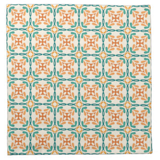 Arts and Crafts Inspired Tile Pattern Napkin