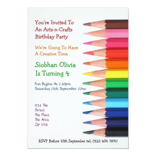 Arts and Crafts Pencil Card