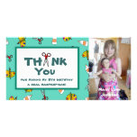 Arts and Crafts Theme Photo Thank You Note Personalized Photo Card