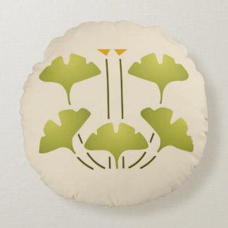 Arts & Crafts Ginkgo Round Cushion