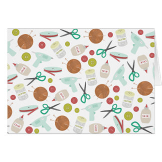 Arts & Crafts Pattern Notecard Greeting Card