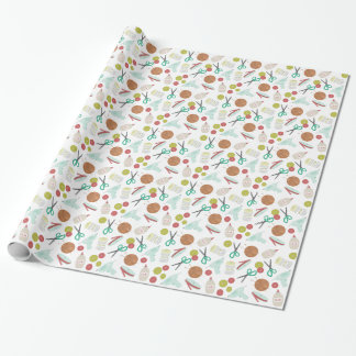 Arts & Crafts Theme Pattern Wrapping Paper