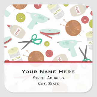Arts & Crafts Themed  Address Sticker