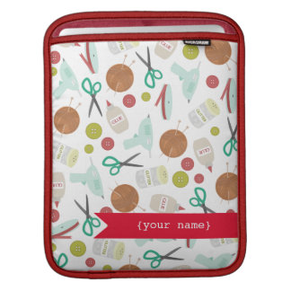 Arts Crafts Themed Personalized iPad Sleeve