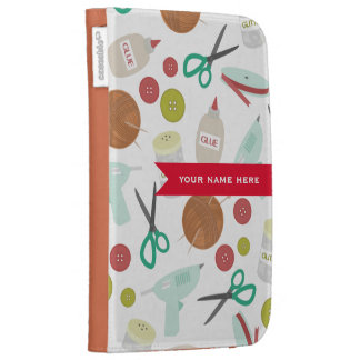 Arts Crafts Themed Personalized Kindle Case