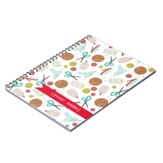 Arts & Crafts Themed Personalized Spiral Notebook
