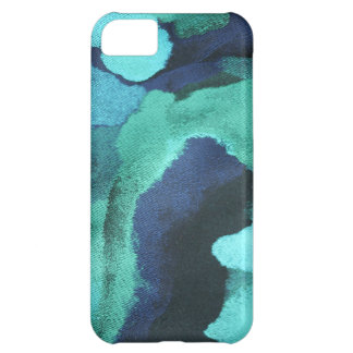 ARTSY ABSTRACT FLORAL PATTERN in BLUE/GREEN iPhone 5C Case