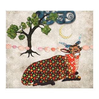 Artsy Addax Dreamy Night Canvas Art Gallery Wrapped Canvas