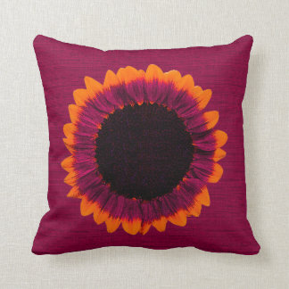Artsy and Abstract Autumn Sunflower Cushion