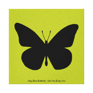 Artsy Black Butterfly Gallery Wrapped Canvas