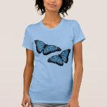 Artsy Blue Butterflies Shirt