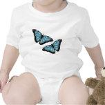 Artsy Blue Butterflies T-shirts