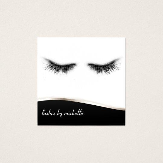 Artsy Chic Black & White Eyelashes Designer Square