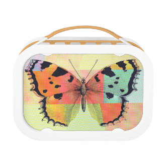 Artsy Colored Butterfly Lunch Box