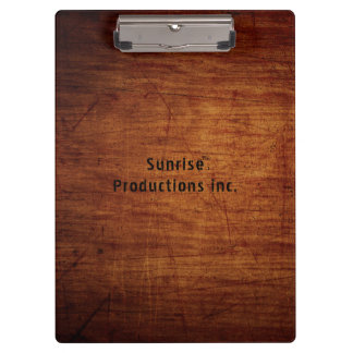 Artsy custom text woodgrain clipboard