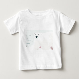 Artsy Cutout Polar Bear in Snow Baby T-Shirt
