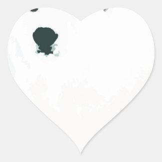 Artsy Cutout Polar Bear in Snow Heart Sticker