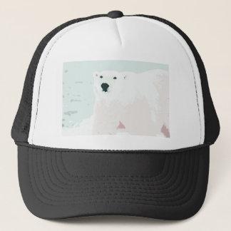 Artsy Cutout Polar Bear in Snow Trucker Hat