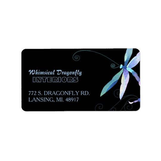 Artsy Dragonfly Business Address Address Label