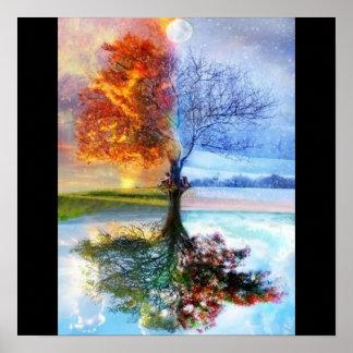artsy four seasons poster
