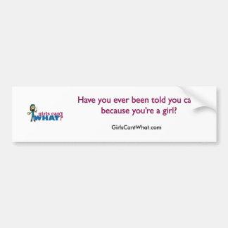 Artsy Girl Car Bumper Sticker