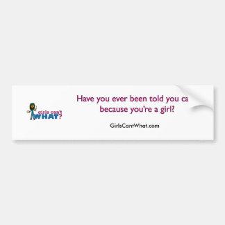 Artsy Girls Car Bumper Sticker