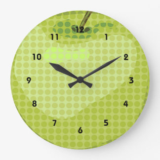 Artsy Green Apple Design Wall Clock