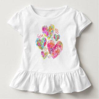 Artsy Hearts Baby Ruffle SHirt