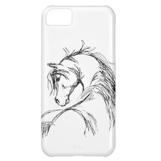 Artsy Horse Head Sketch iPhone 5C Case