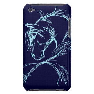 Artsy Horse Head Sketch iPod Touch Case